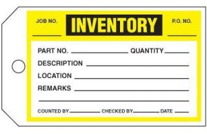 Signage helps with inventory management